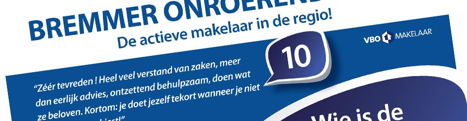 Flyer ontwerp Bremmer Zwijndrecht